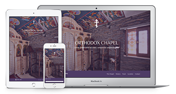 Web Theme for Orthodox Chapels