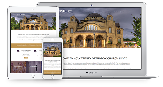 Web Theme για Orthodox Churches