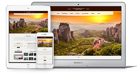 Web Theme for Orthodox Monasteries