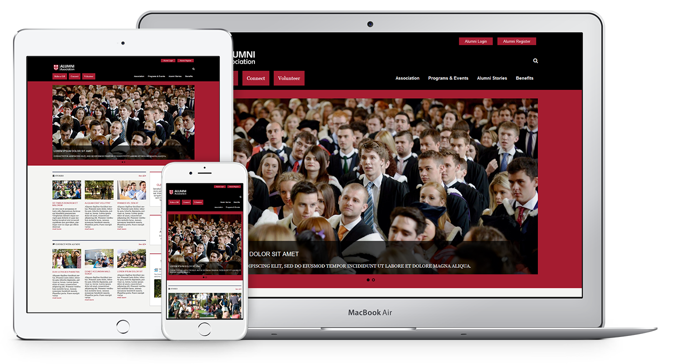 Unique Web Theme for Alumni Associations
