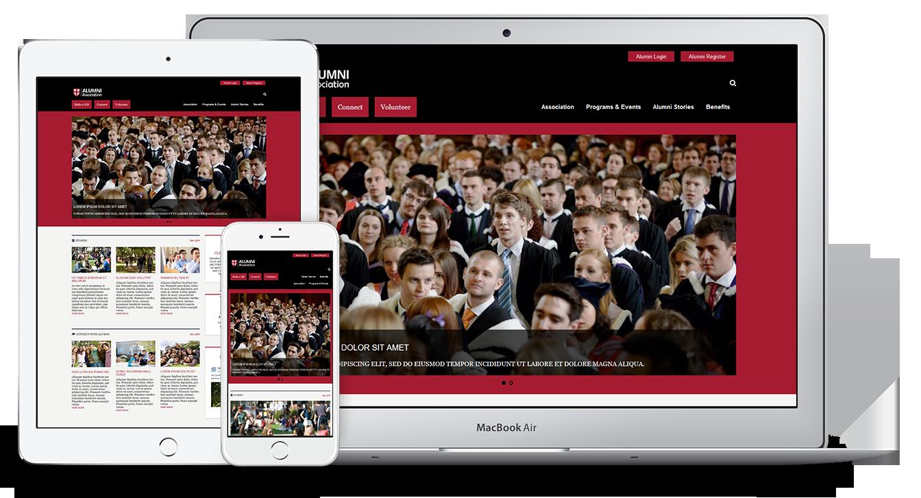 Unique Web Theme for Alumni Associations