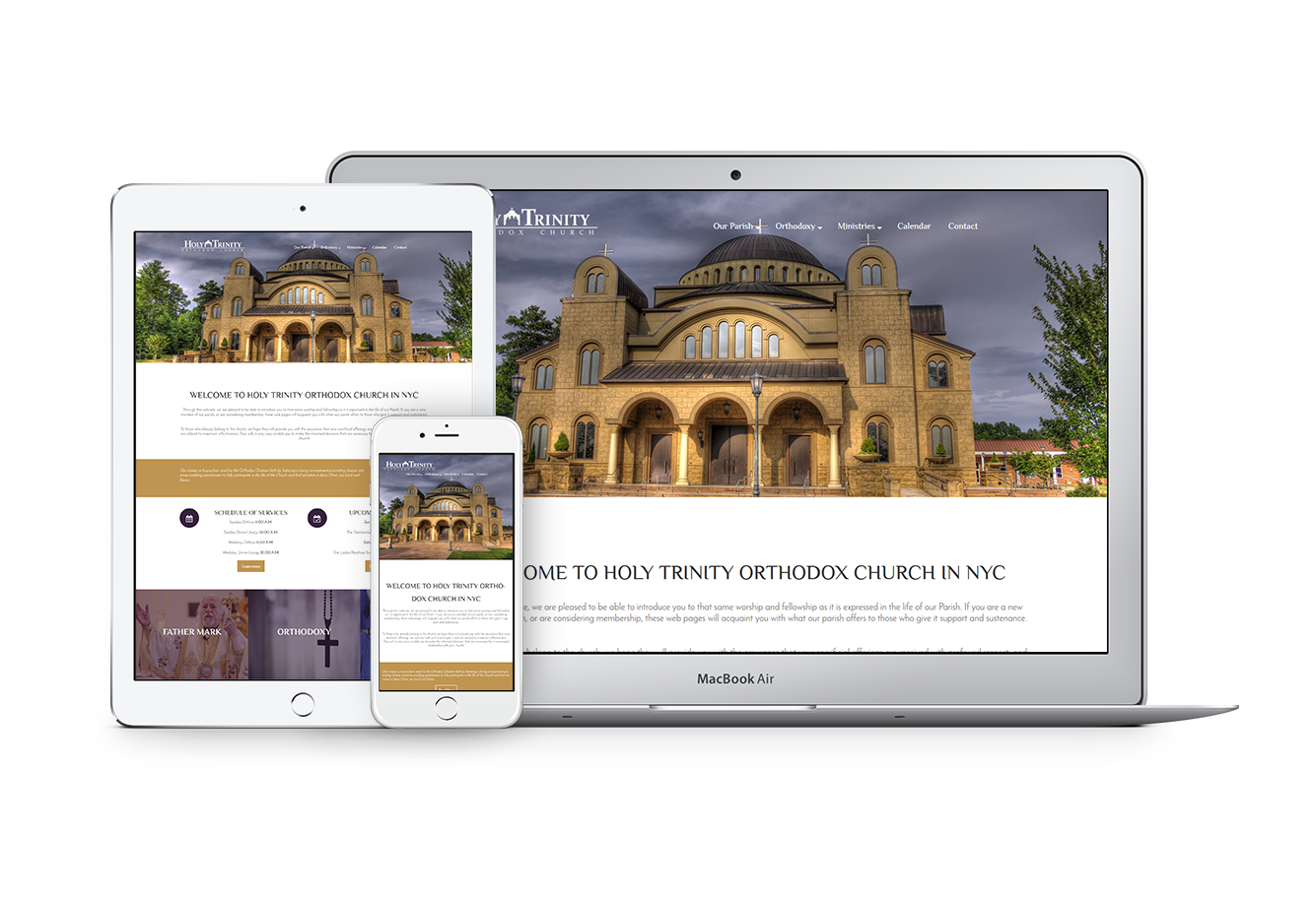 Exclusive Web Theme for Orthodox Churches