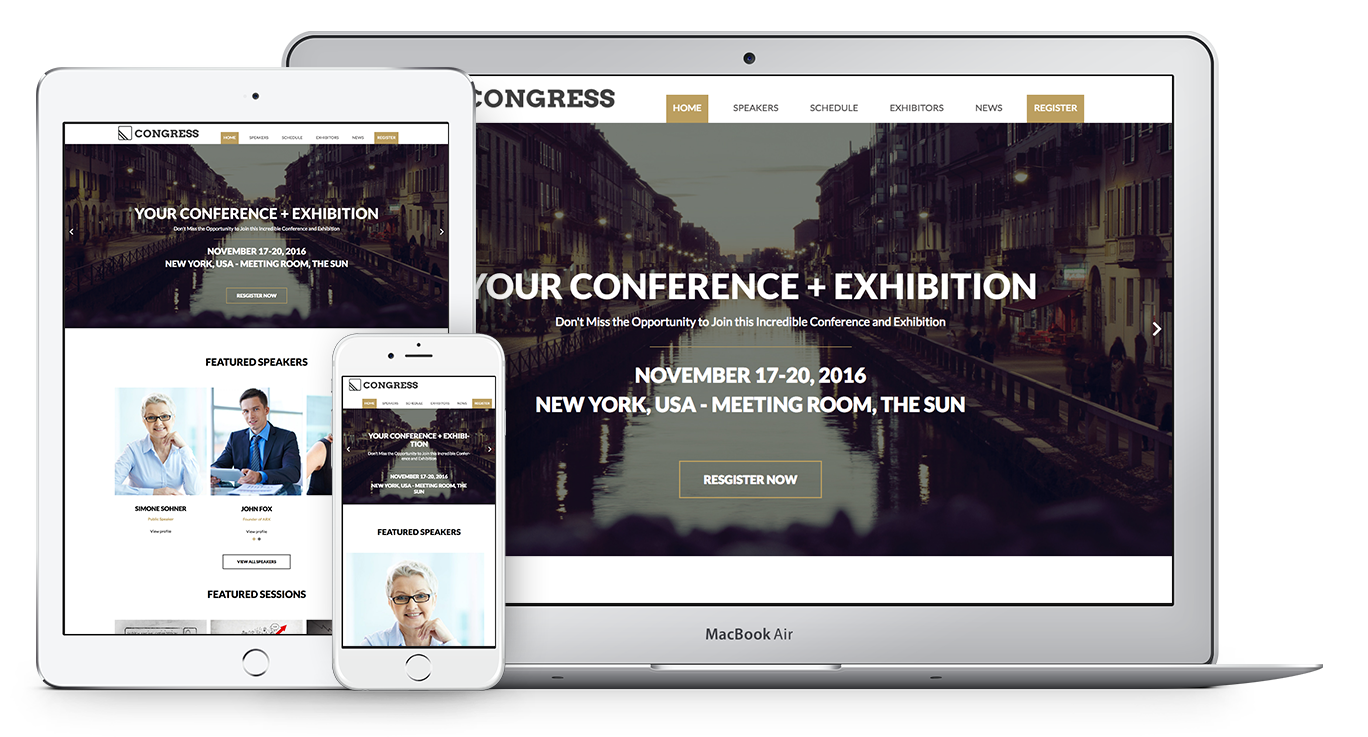 Special Web Theme for Congresses