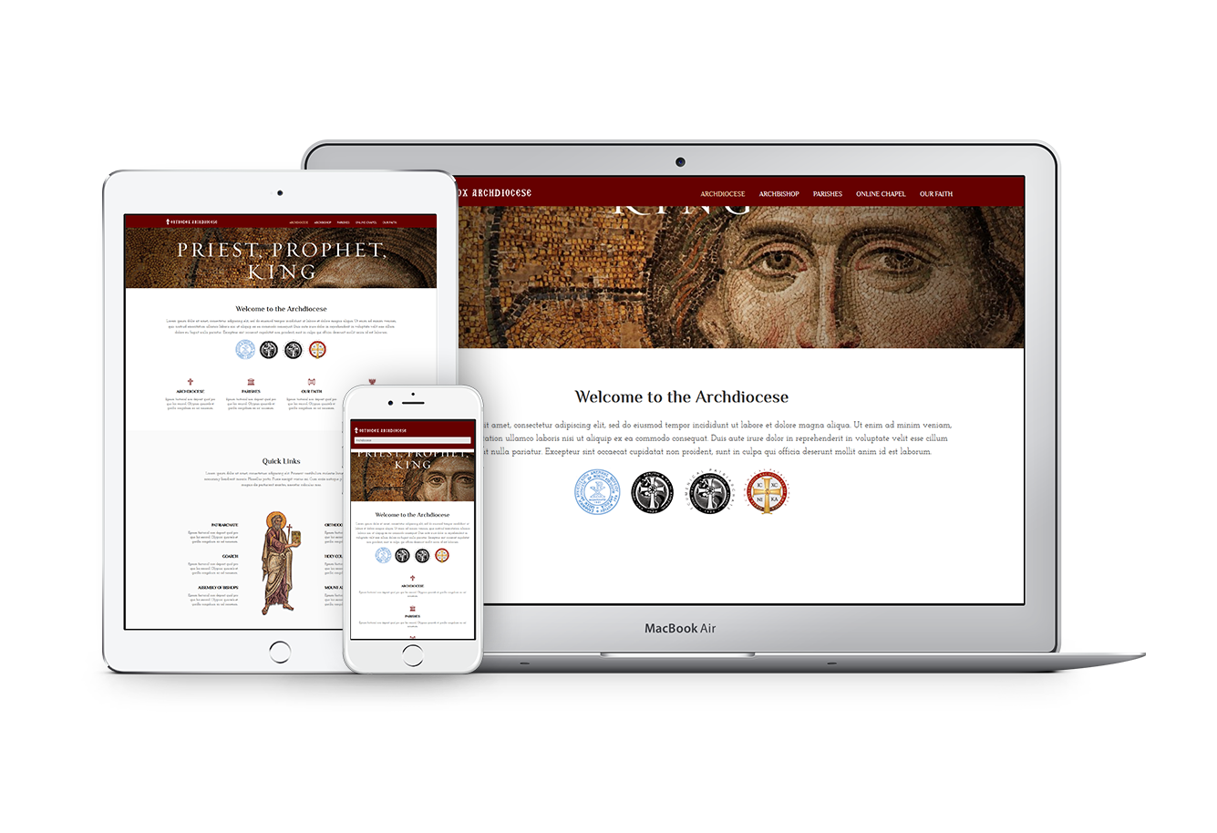 Unique Web Theme for Orthodox Dioceses