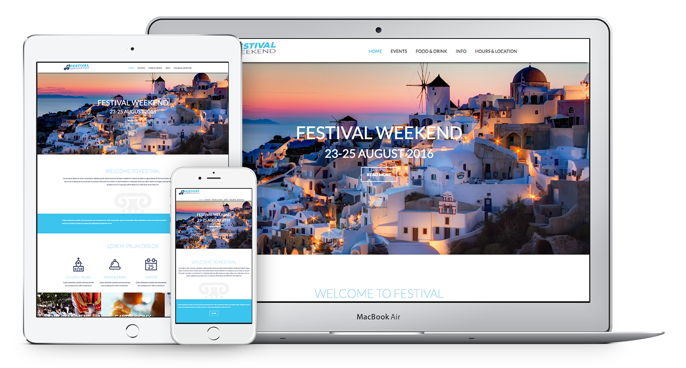 Unique Web Theme for Festivals