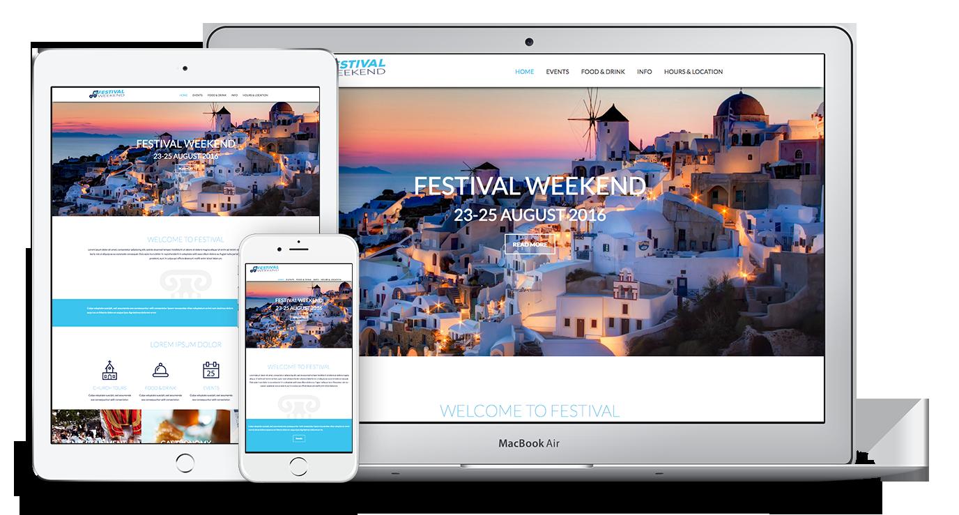 Unique Web Theme for Festivals