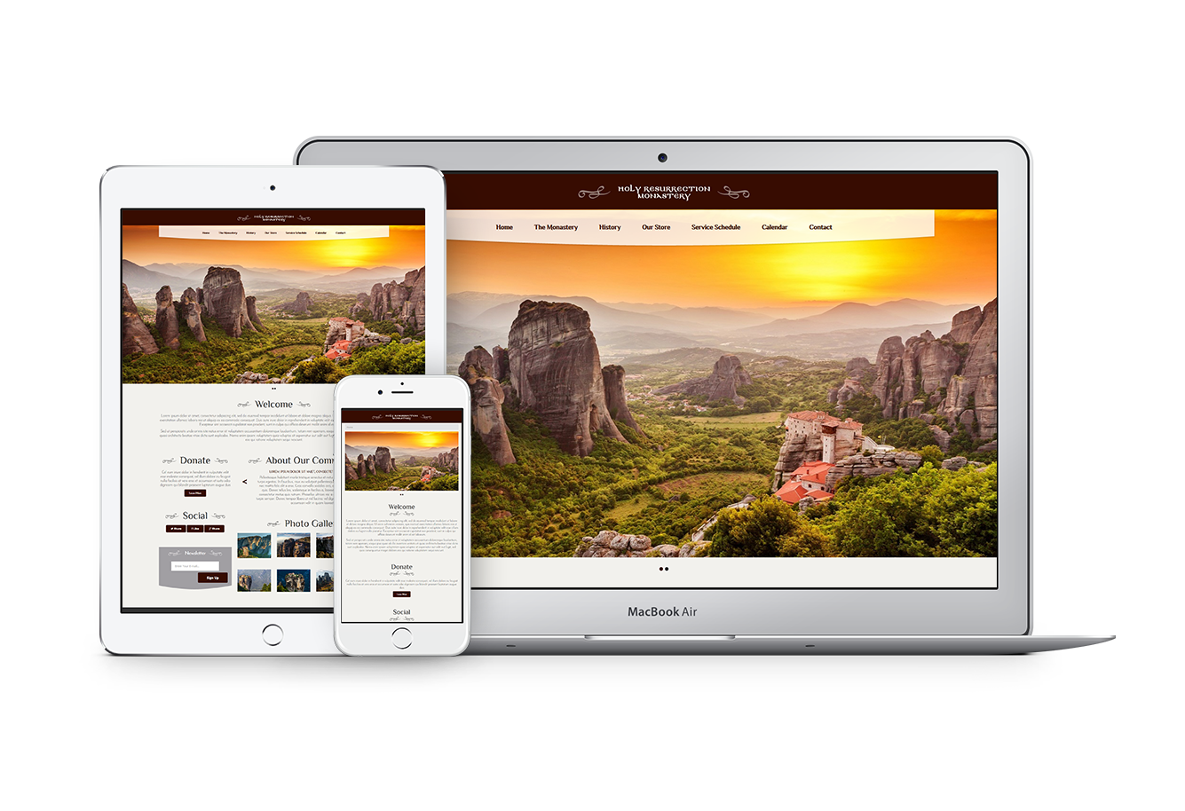 Special Web Theme for Orthodox Monasteries